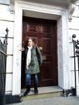 Graffiti laden door of No.3 Savile Row