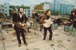 The Beatles Performing on the Roof